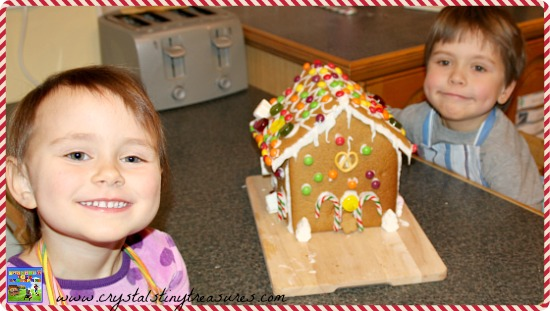 Finished gingerbread house for Shelter Charity