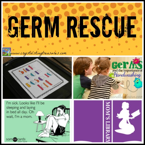 Germ REscue on Mom's Library with Crystal's Tiny Treasures