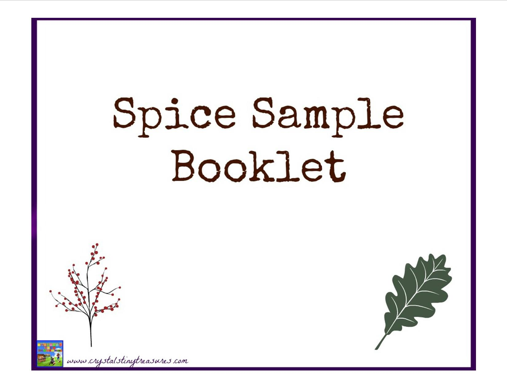 Guess The Spice Booklet
