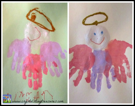 Hand print angels are the perfect thing for daycares