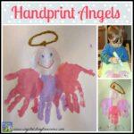 Handprint Angels are a Christmas keepsake
