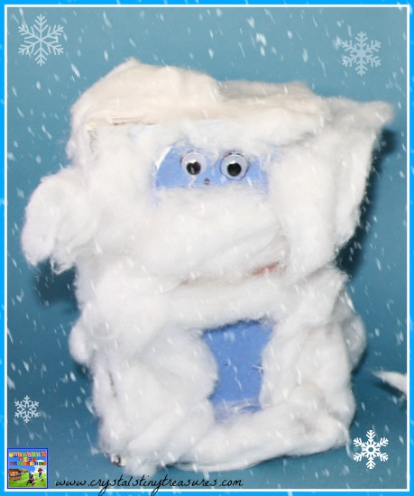 Rudolph The Red-Nosed Reindeer Movie Snow Monster character made from a box