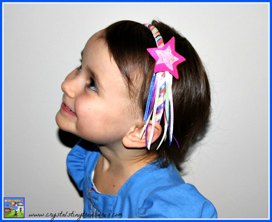 Rainbow hairband with a shooting star diy gifts for girls