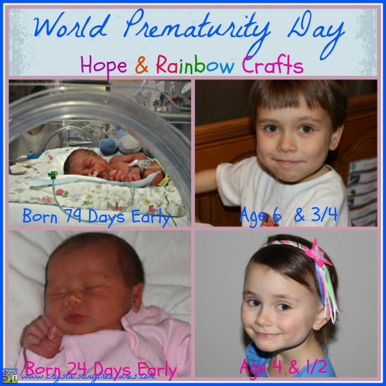 World Prematurity Day, Hope and Rainbow Crafts