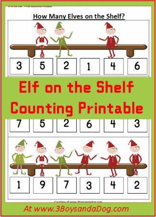 Elf-on-the-Shelf-Counting