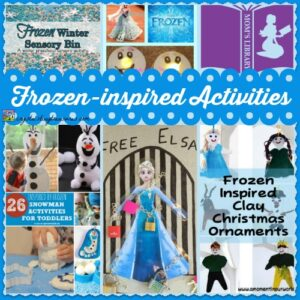 Activities inspired by the movie, Frozen