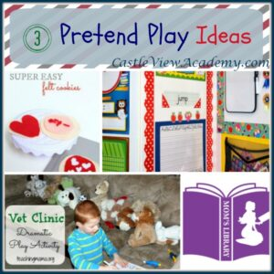 3 Pretend Play Ideas with Mom's Library on Castle View Academy