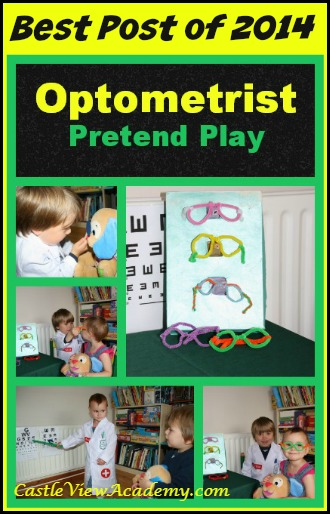 Best Post of 2014 Optometrist Pretend Play and Crafts