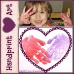Handprint heart art by Castle View Academy