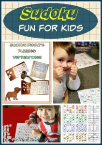 Sudoku picture puzzles is a fun math activity