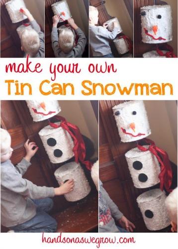 diy tin can snowman
