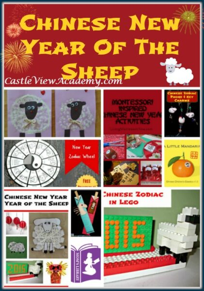 Chinese New Year of The Sheep on Mom's Library with Castle View Academy