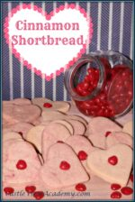 Cinnamon Shortbread Cookies with Candy Hearts