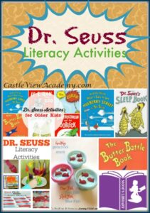 Dr. Seuss Literacy Activities on Mom's Library with Castle View Academy