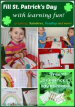 Rainbow Math and More for March Learning!