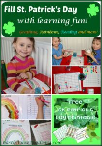 Fill ST. Patrick's Day with learning fun graphing, rainbows, reading, and more!