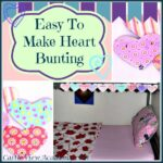 How to make bunting easy paper heart bunting