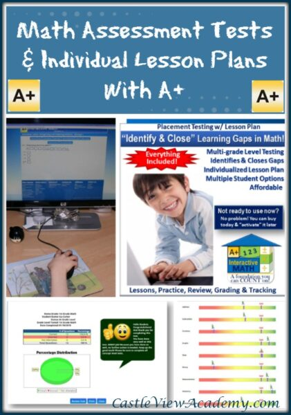 Math Assessment Tests and Individual Lesson Plans by A+ Tutorsoft, a review by Castle View Academy