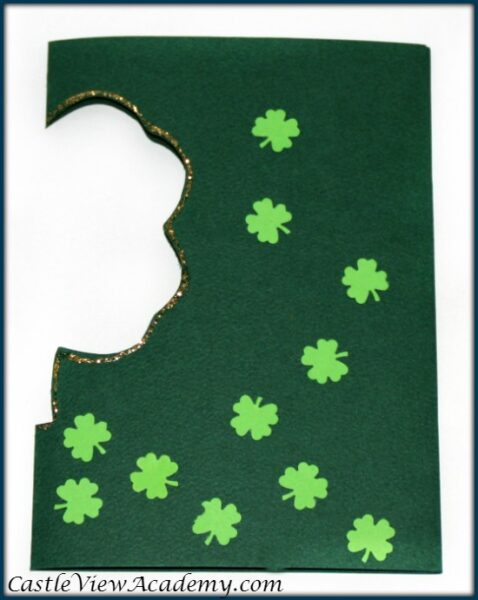 St. Patrick's Day Card half done