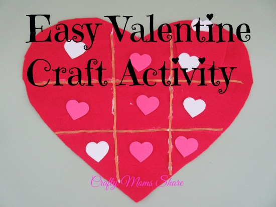 Valentine tic tac toe craft