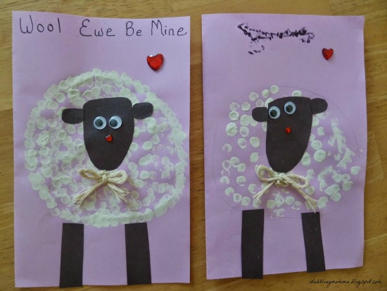 sheep cards with hearts