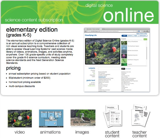 Digital Science Online Elementary