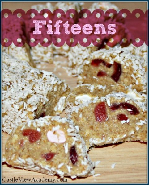 Fifteens are a delicious, no-bake lunchtime or sn</a srcset=