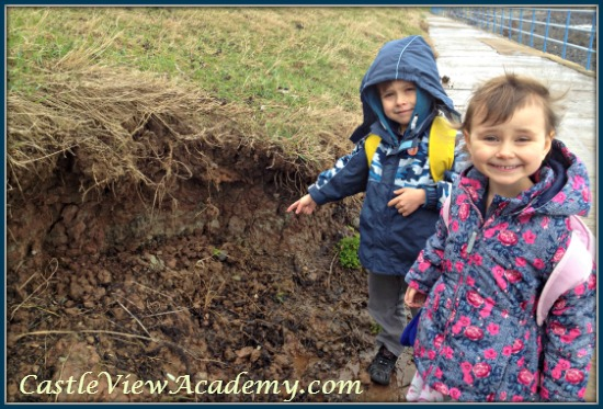 Looking for soil layers while out walking