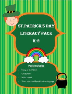 Free St.Patrick's Day Literacy Pack K-2
