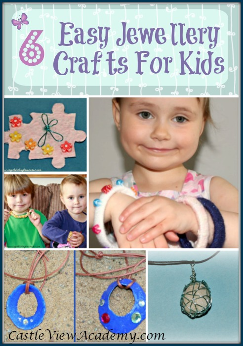 6 easy jewellery making crafts for kids by Castle View Academy