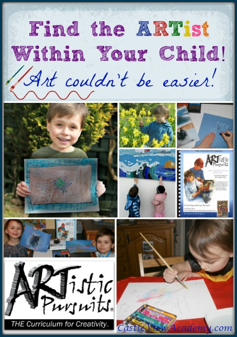 Art Education couldn't be easier with ARTistic Pursuits!  Castle View Academy has been loving learning art appreciation and exploring art in many mediums
