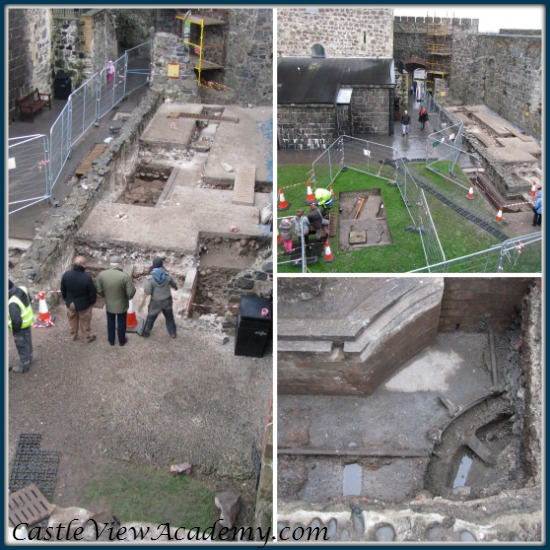 Carrickfergus Castle Excavation 2014 was an excellent lesson for homeschooling