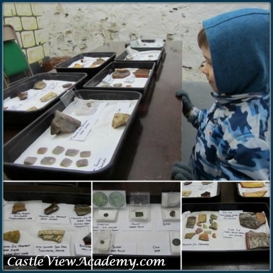 Carrickfergus Castle excavation artifacts on display