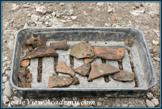 Carrickfergus Castle excavation artifacts