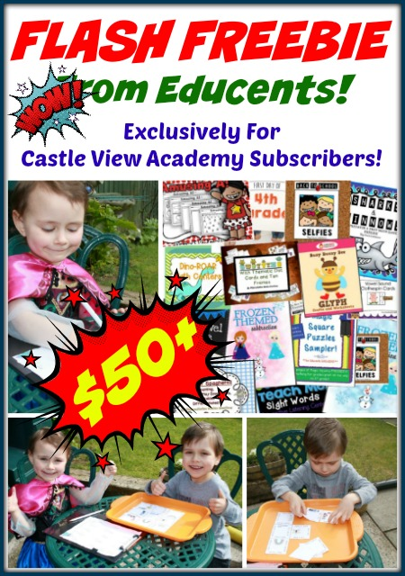 Flash Freebie from Educents and Castle View Academy! Grab it before it's gone, your kids will thank you!