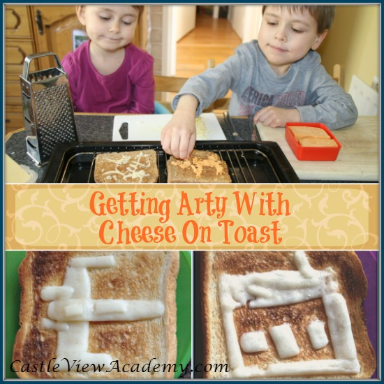 Getting arty with cheese on toast is a fun way to start the weekend!