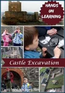 Hands on Learning at Carrickfergus Castle Excavation with Castle View Academy