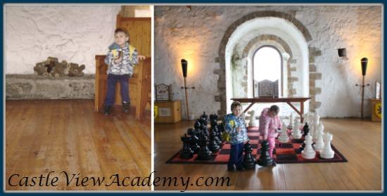 Inside Carrickfergus Castle in Northern Ireland