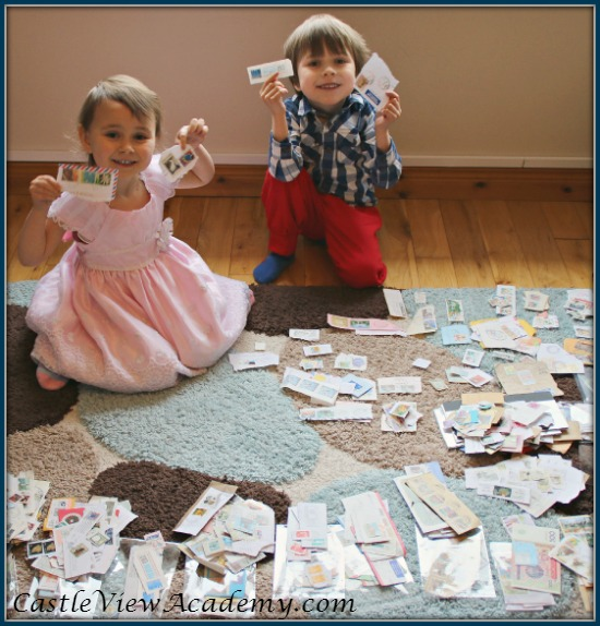 Postage stamps from around the world are so interesting for kids!