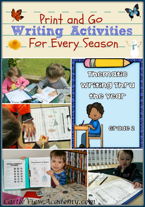 Print and Go Writing Activities For Every Season Thematic Writing Thru The Year for Grade Two (& much more)!