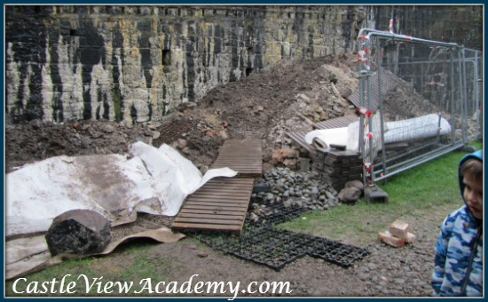 Soil moved during the Carrickfergus Castle Excavation 2014