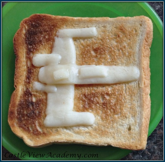Tie Fighter cheese on toast