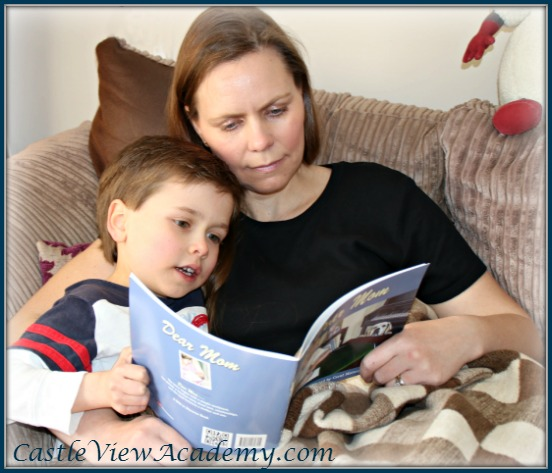Tristan reading Dear Mom to me