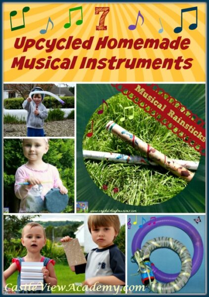 7 Upcycled Homemade Musical Instruments by Castle View Academy