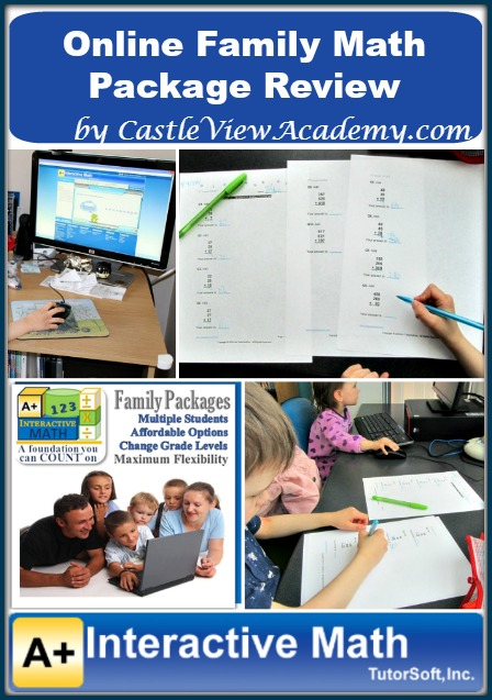 A Review of A+ Interactive Math Family Online Math Package by Castle View Academy