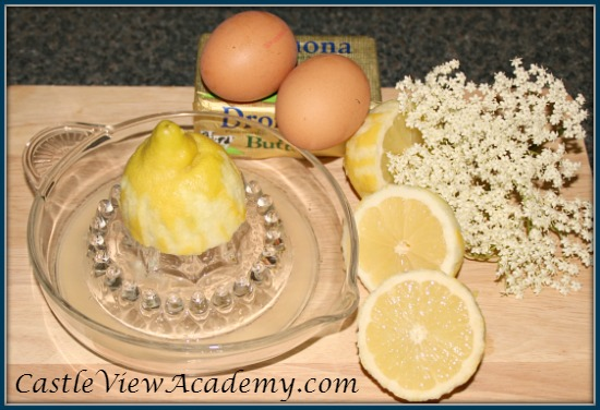 Elder flower lemon curd is easy to make and delicious to eat
