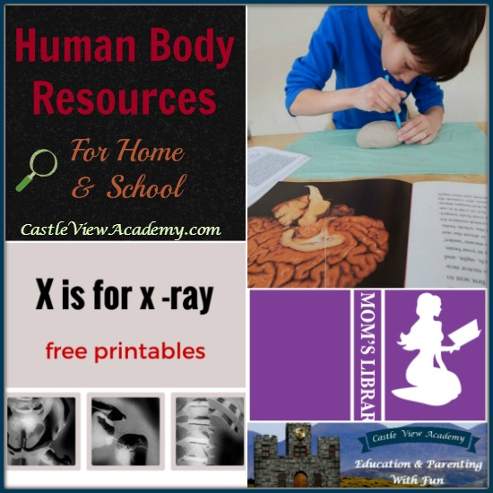 Human Body Resources for home and school on Mom's Library at Castle View Academy