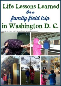 Life Lessons Learned on a Family Field Trip to Washington D.C., a guest post on Castle View Academy by by Homeschool Ways