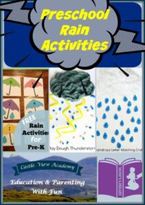 Preschool Rain Activities on Mom's Library with Castle View Academy
