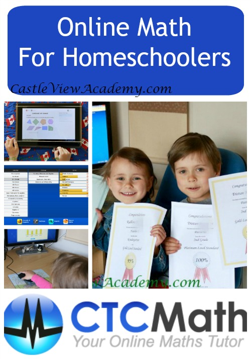 CTC Math, an online math program for homeschoolers from Kindergarten to high school. A review by CastleViewAcademy.com